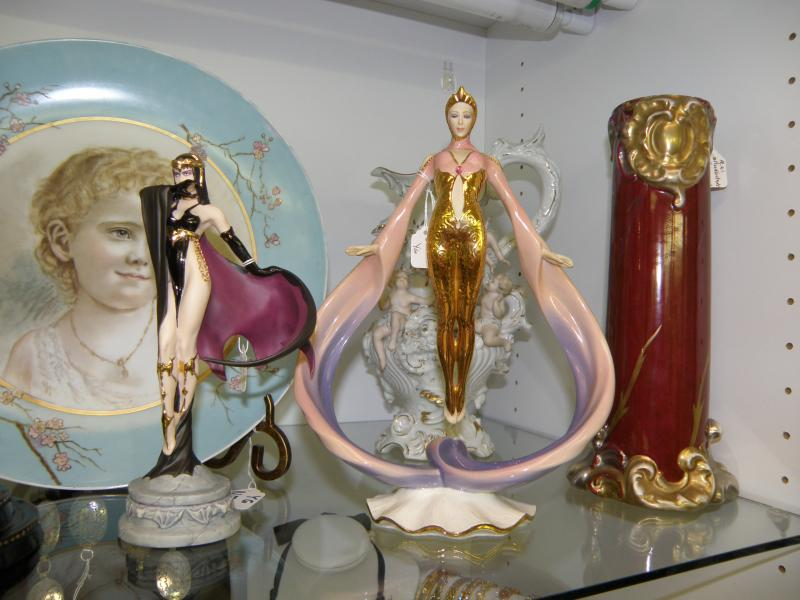 Two Erte Figurines