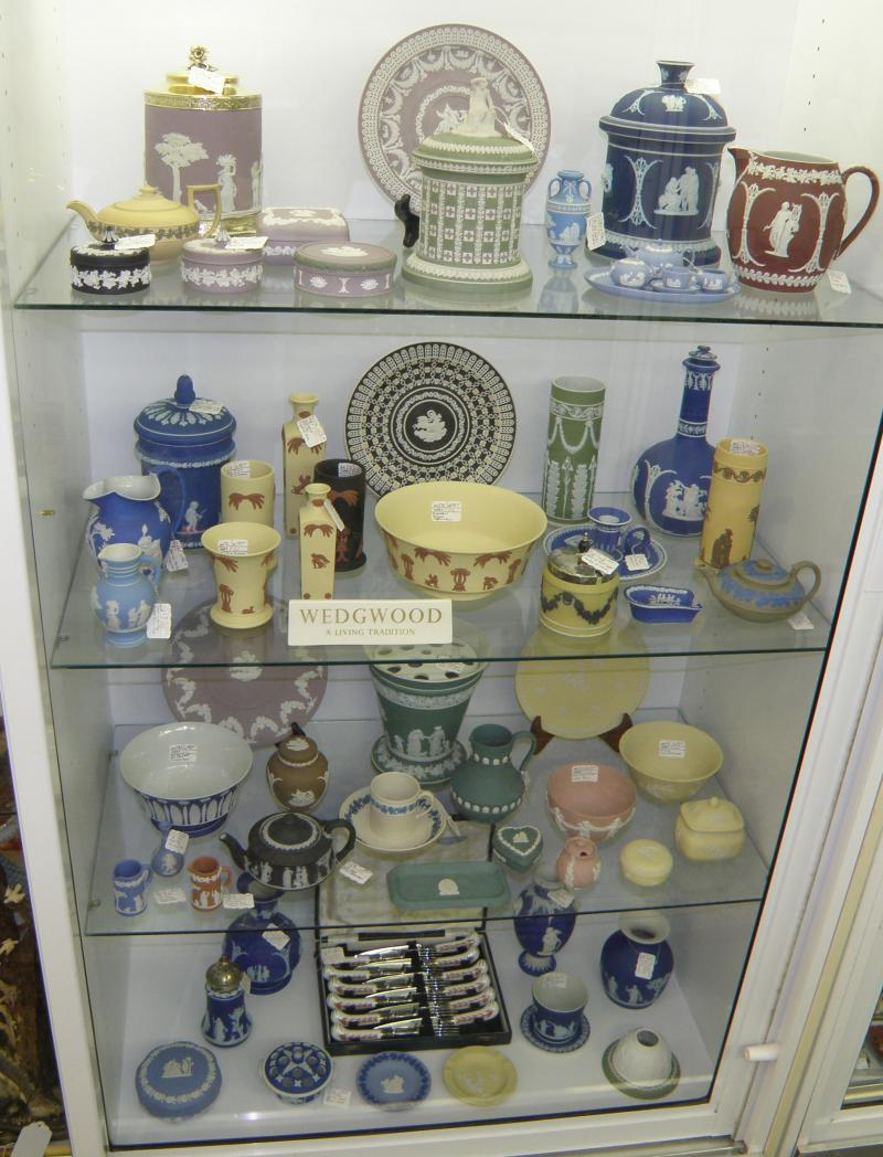 Wedgwood Pottery Specialists  Display Case