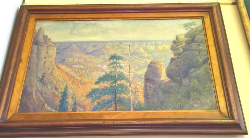 Western Landscape by Listed American Artist D. Williams